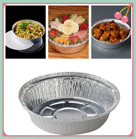 Food Packing Round Aluminum Disposable Pans