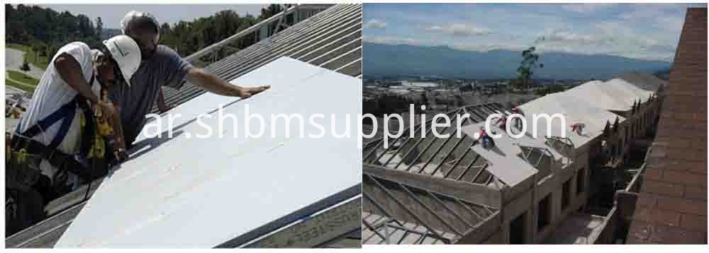 Fire proof cement roof panel