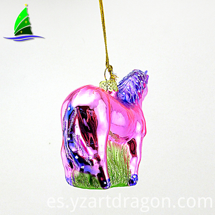Creative Glass Cartoon Unicorn Ornaments