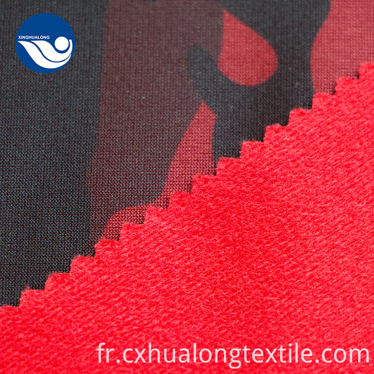 Printed Tricot Brush Fabric