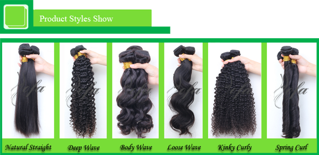 100% Unprocessed Natural Brazilian Virgin Hair Remy Human Hair Weft