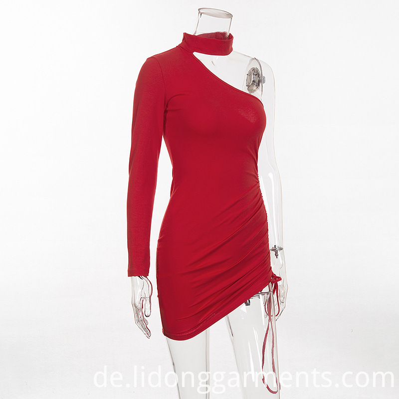 Asymmetric Sexy Bodycon Mini Dress