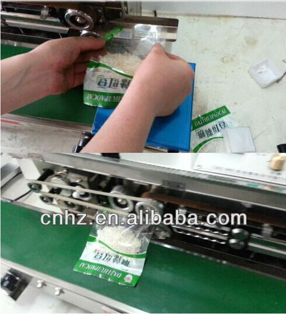 Horizontal Type Automatic Bag Sealing Machine with Conveyor Belt