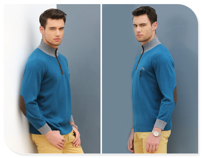 Men's Cotton Cashmere Cable Knitted Sweater