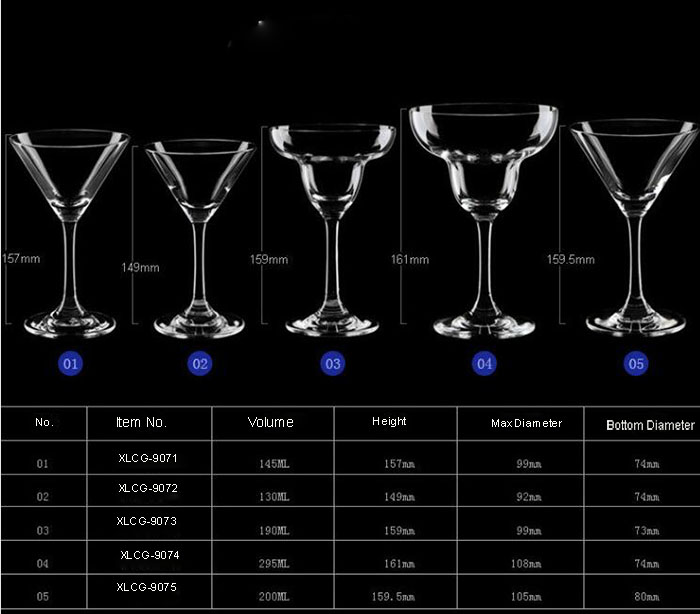 New Design High Quality Coktail Glass Juice Cup Ice Cream Cup for Wholesaler
