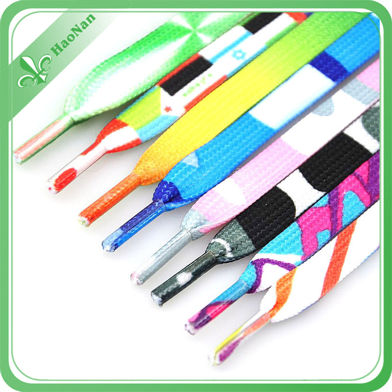 Polyester Material Wholesale Shoe Laces for Soccer Shoes (HN-SL-0018)