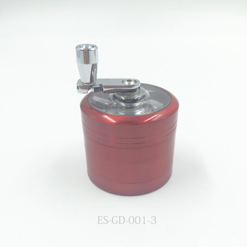 Top Quality Metal Cigarette Herbal Manual Grinder with Hand Crank (ES-GD-001-1)