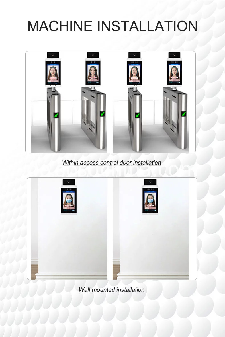 Ips 8-Zoll-Kiosk Digital Signage Gesichtserkennung LCD-Display Körpertemperaturtest