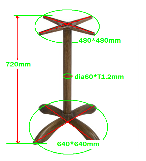 aluminum alloy die-casting Outdoor Table Base