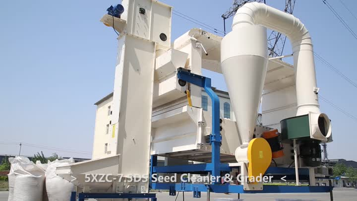 5XZC-7.5DS Seed Cleaner & Grader clean sesame.mp4