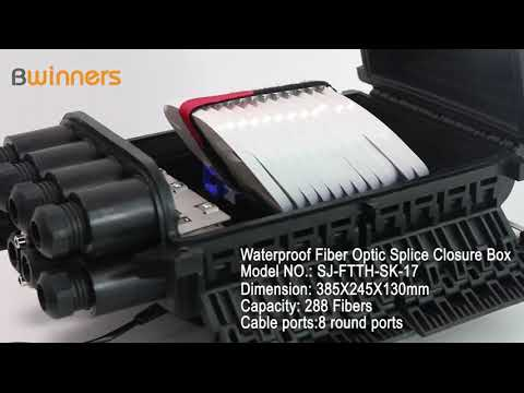 SJ-FTTH-SK-17 Waterproof Fiber Optic Splice Closure Box