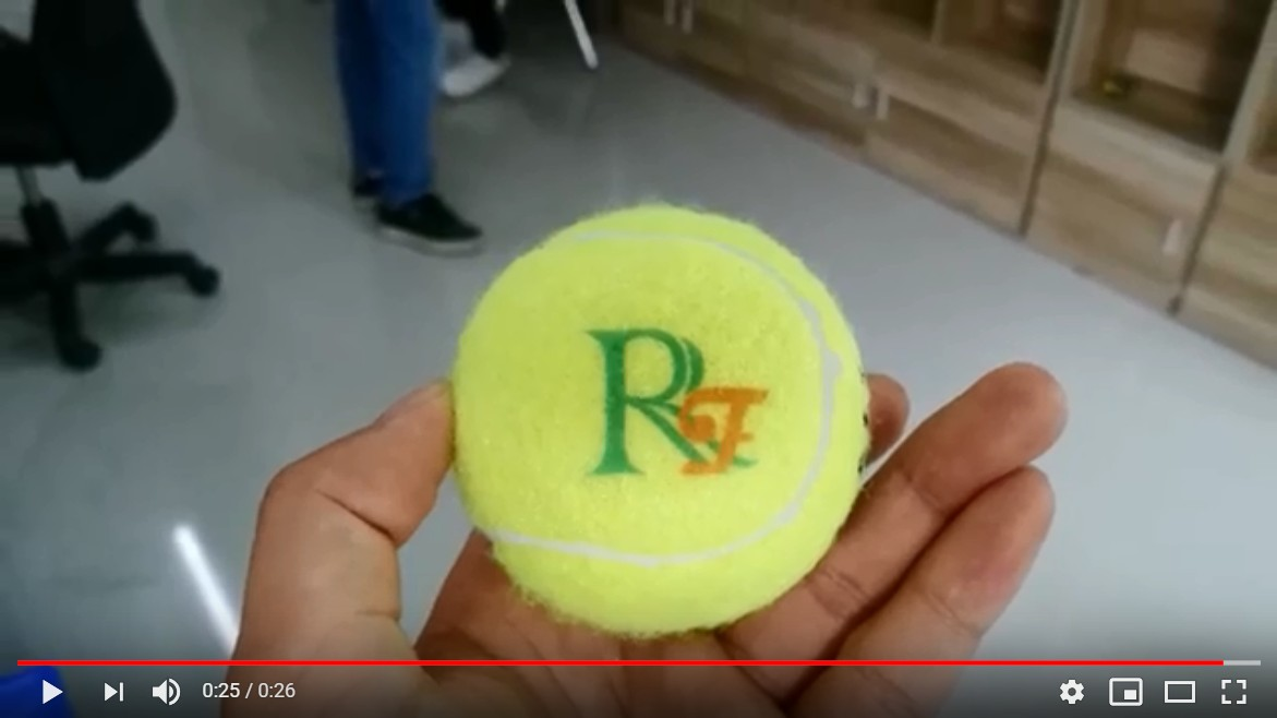 How to make your cusotomized name on balls tennis ball printing with UV printer