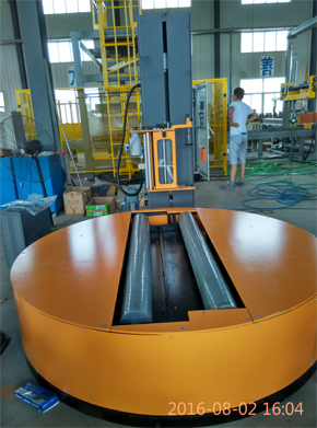 Reel stretch wrapping machine for testing