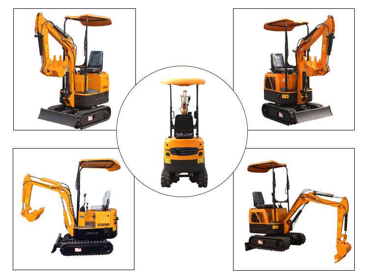 Chinese XN08 crawler mini excavator 1 ton small digger for sale