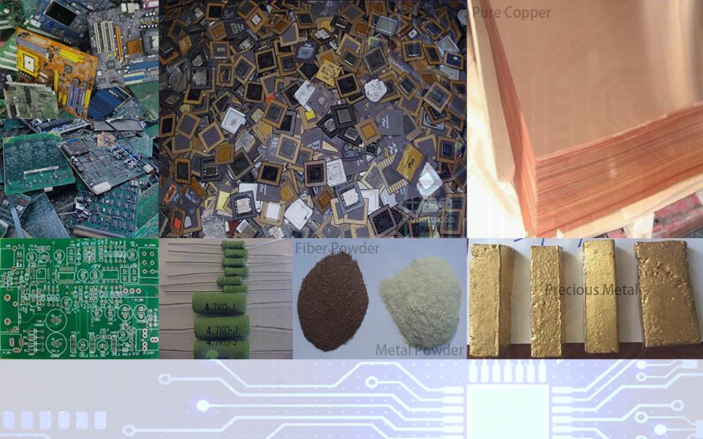 E-waste Phone Pcb Printed Computer Circuit Boards Copper Recycling Crushing and Separating Plant