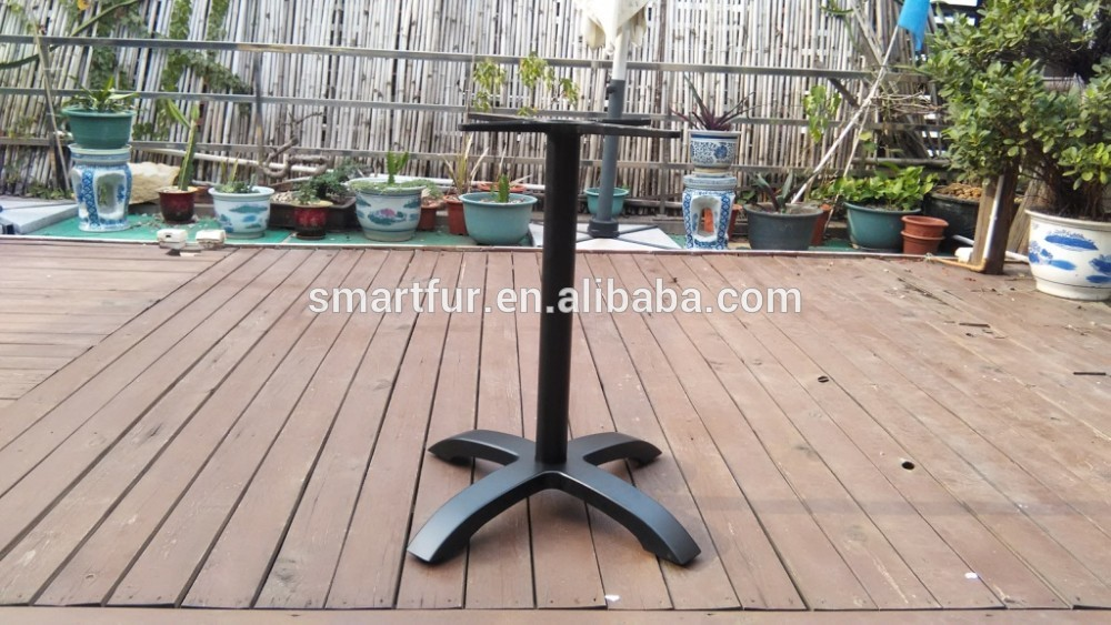 black aluminum cross outdoor Table Base.jpg