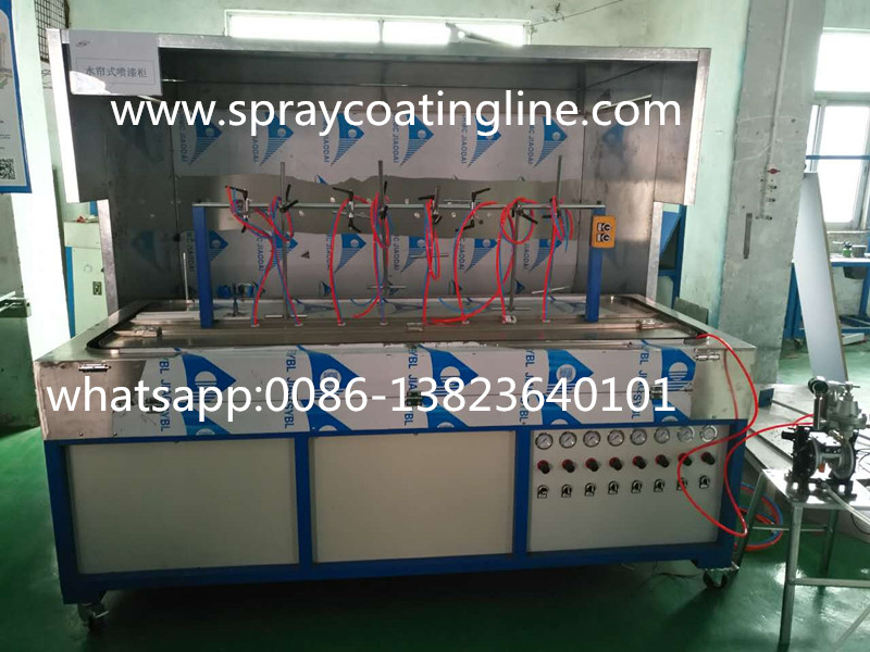 low investment small automatic winding spray paint machine