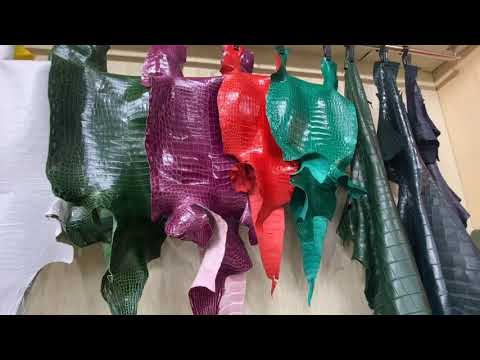 Eco-Friendly Crocodile Skin Faux Leather for Garments