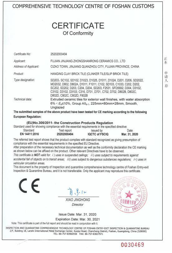 Klinker CE certification