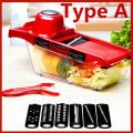 Vegetable Fruit Cutter with Steel Blade Mandoline Slicer Potato Peeler Carrot Cheese Grater vegetable slicer Kitchen Accessories
