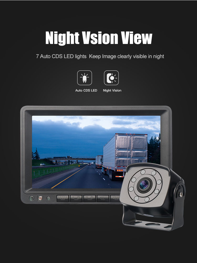 Digital wifi night vision 8 led IP68 wireless rearview camera car reversing aid