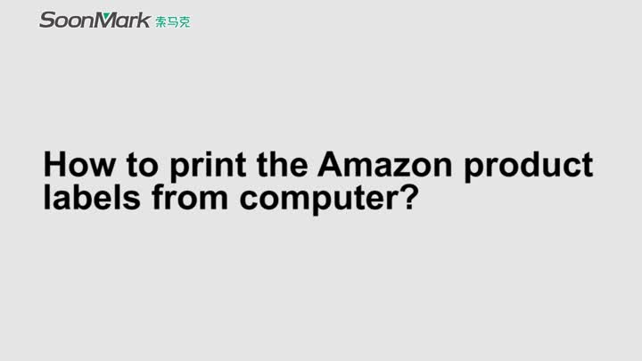 Print the Amazon product labels