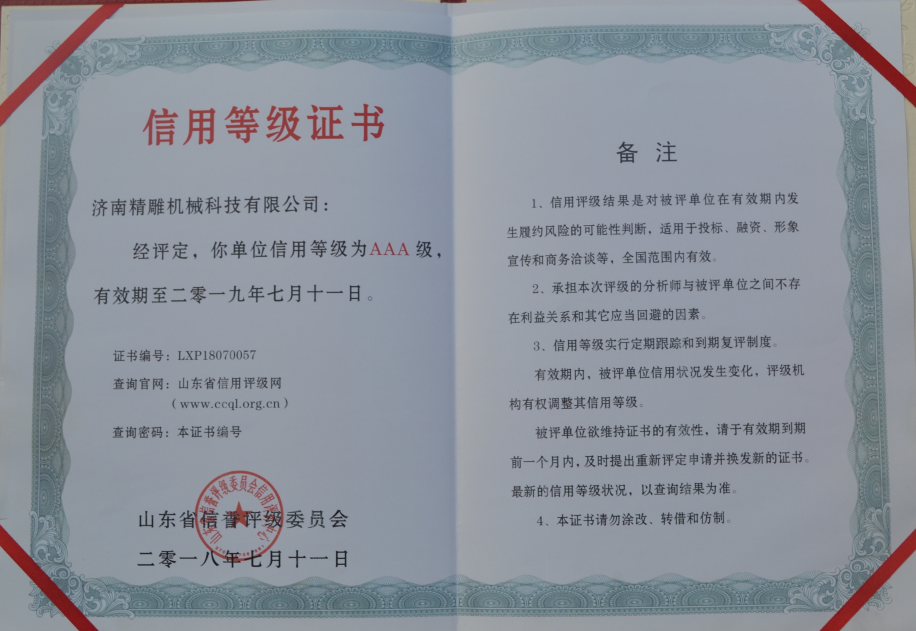 Honor certificate 3