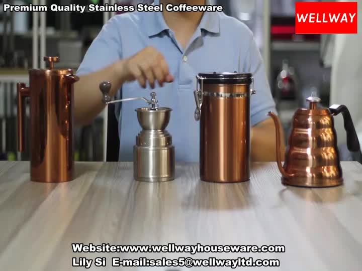 Premium Quality Stainless Steel Coffeeware(Copper Accessory).mp4