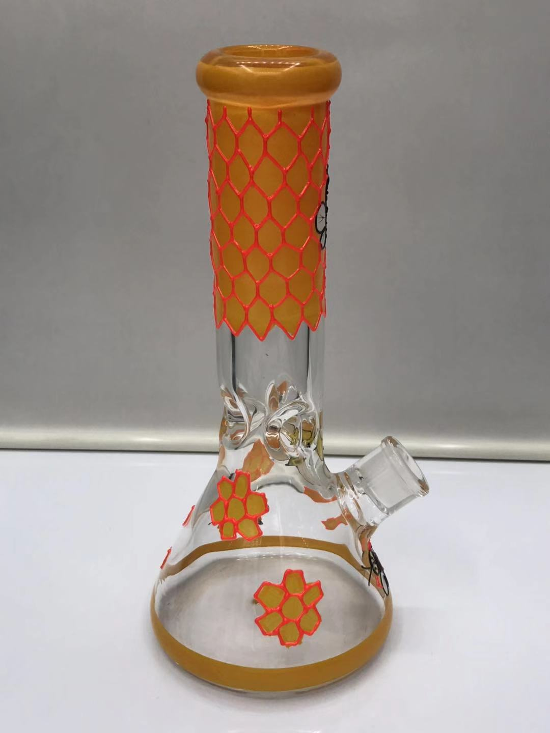 Orange beaker bottom pipe