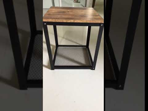 Modern Luxury Industrial Antique Adjustable Bedside Table