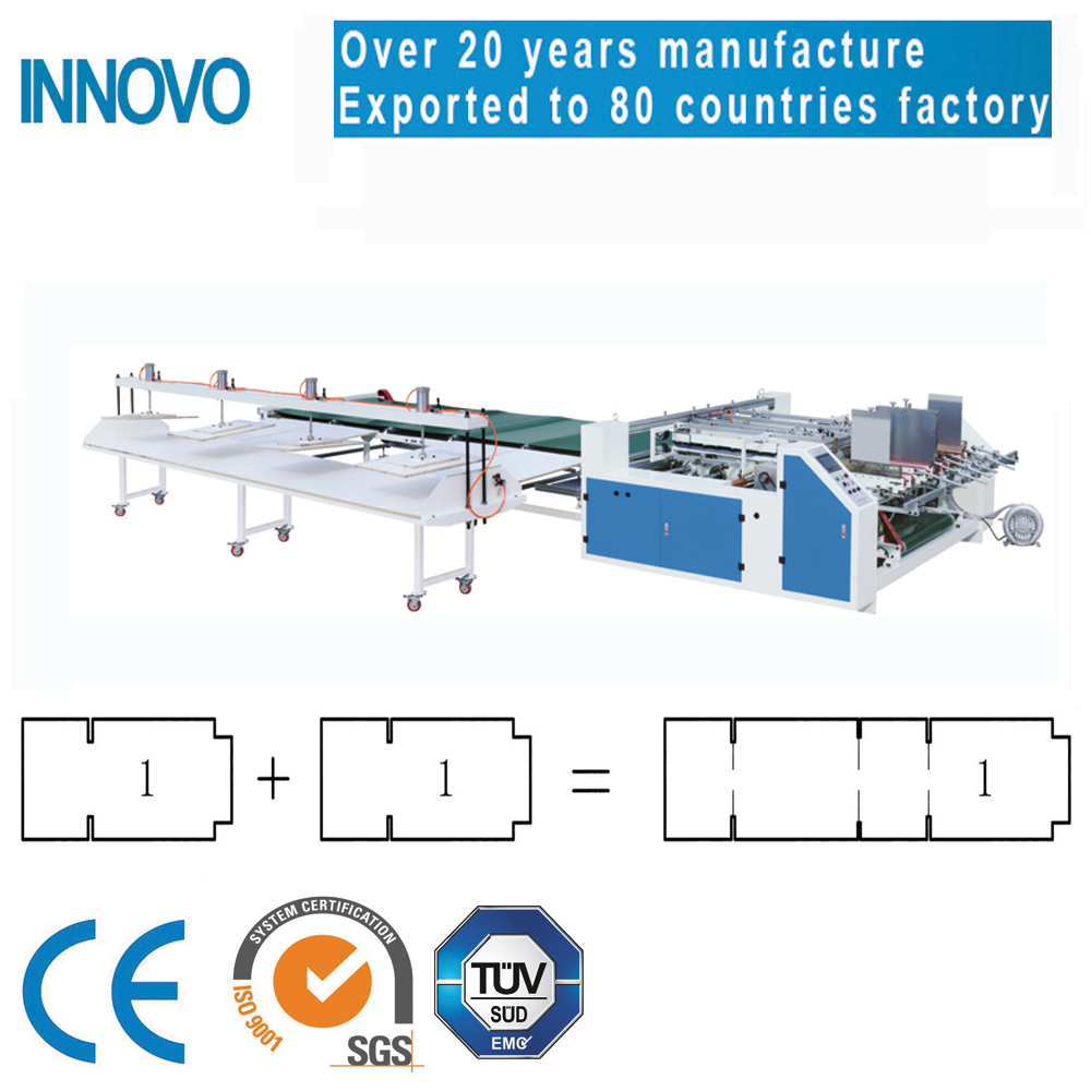 twin parts gluing and folding machine