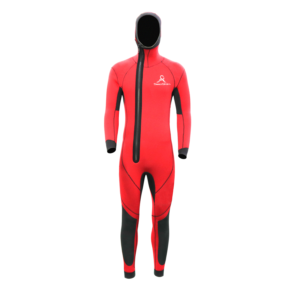 Mens Hooded Wetsuit in Red