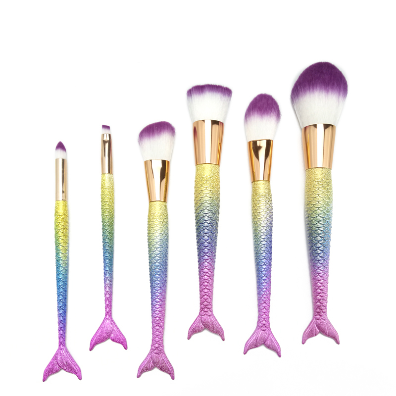 Mermaid makeup brush