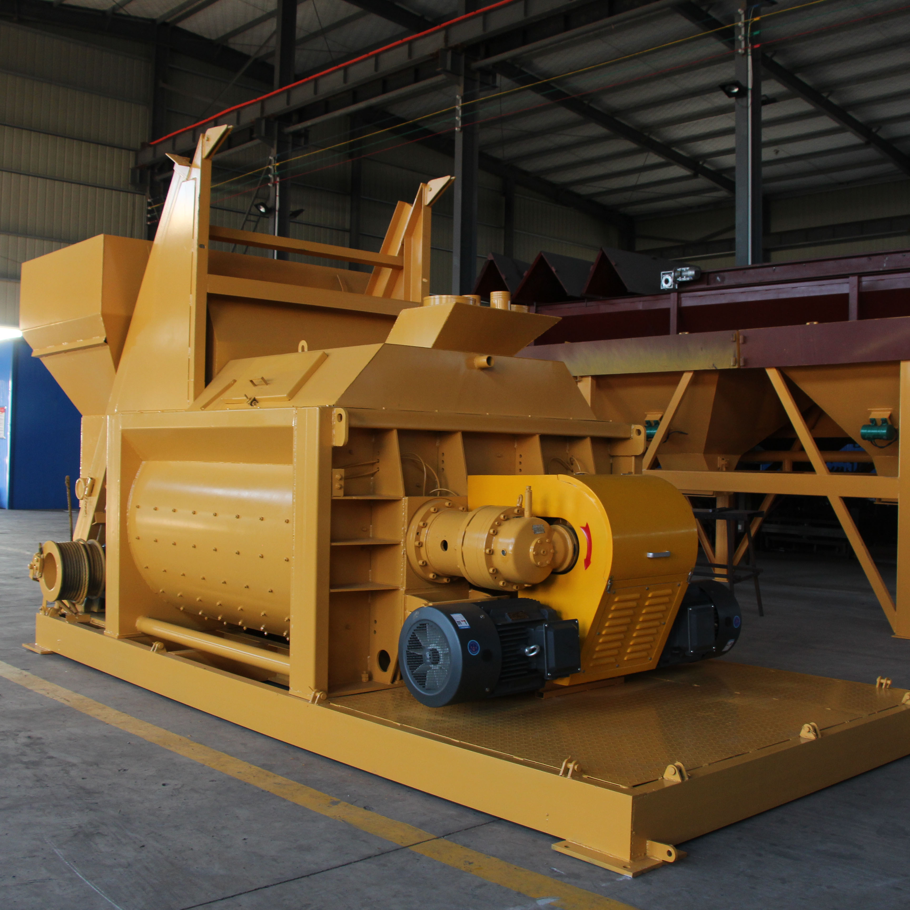 New technology ready mix twin shaft concrete mixer