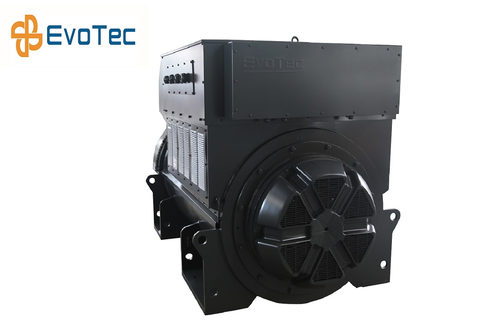 EvoTec Alternator Coupled With Cummins Engine For Genset