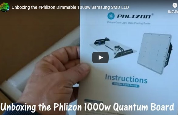 Phlizon Dimmable 1000w Samsung SMD LED Unboxing