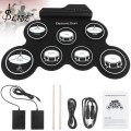 Slade Electronic Digital USB 7 Pads Roll up Set Silicone Electric Drum Kit 7 Drum Pads with Drumsticks and Sustain Pedal