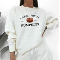 Farm Fresh Pumpkins Spring Autumn Hoodies Women Prairie Sweatshirt Hipster Loose Clothes High Quality Pullover American Apparel