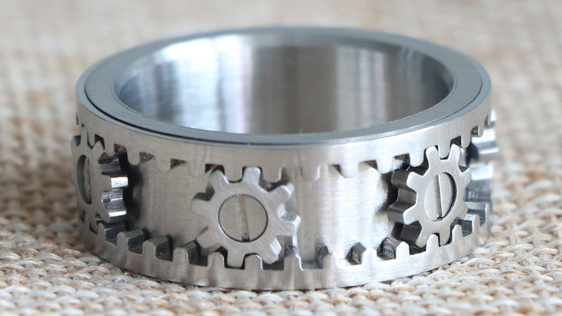 Cool Design Metal Gear Ring For Men