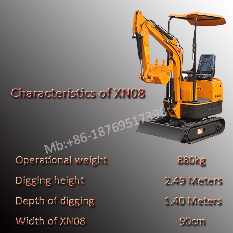 XINIU mini excavators