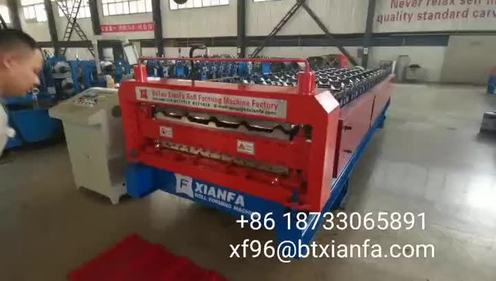 Double Layer Forming Machine for Canada