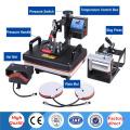 30*38CM 5 in 1 Combo Heat Press Printer Machine 2D Sublimation Vacuum Heat Press Printer for T-shirts Cap Mug Plates