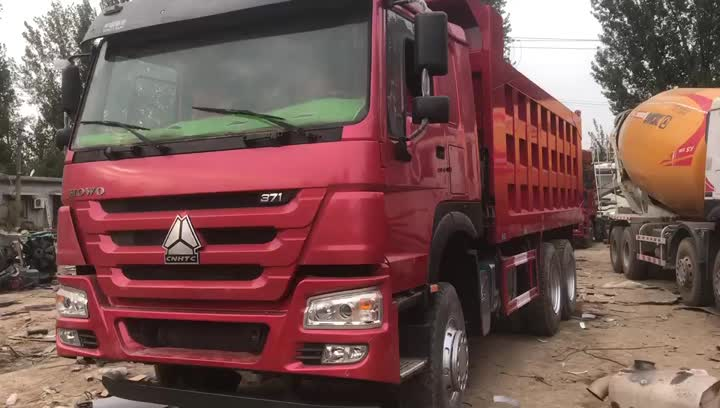 Red Colour Dump Truck