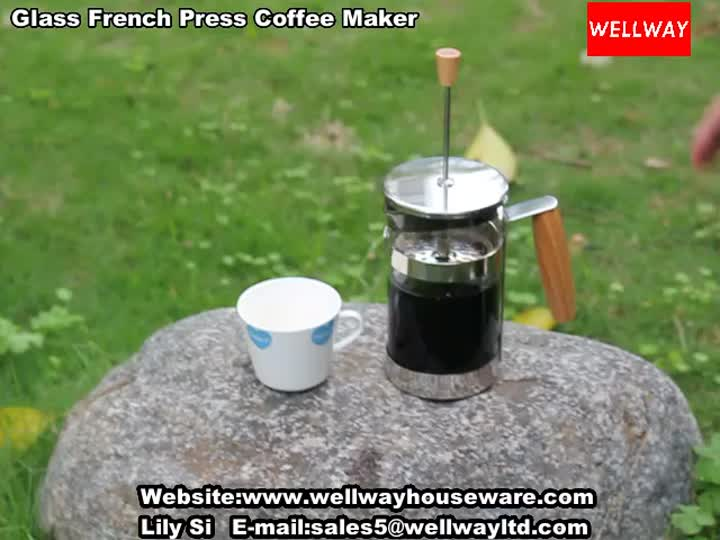 Glass French Press Coffee Maker.mp4
