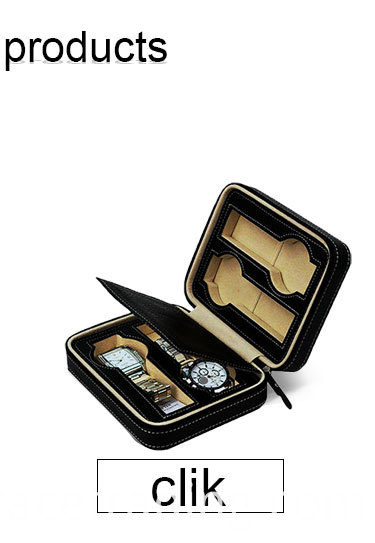 custom carrbon fiber leather watch gift box for display