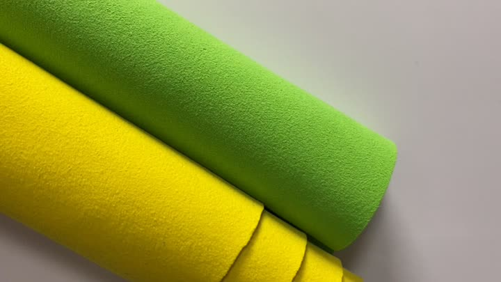 1.4mm both side  suede microfiber fabric for shoes material.MP4