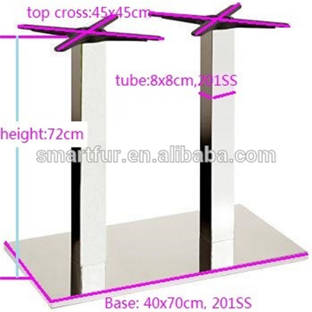 Rectangle Stainless Steel marble dining Table Base