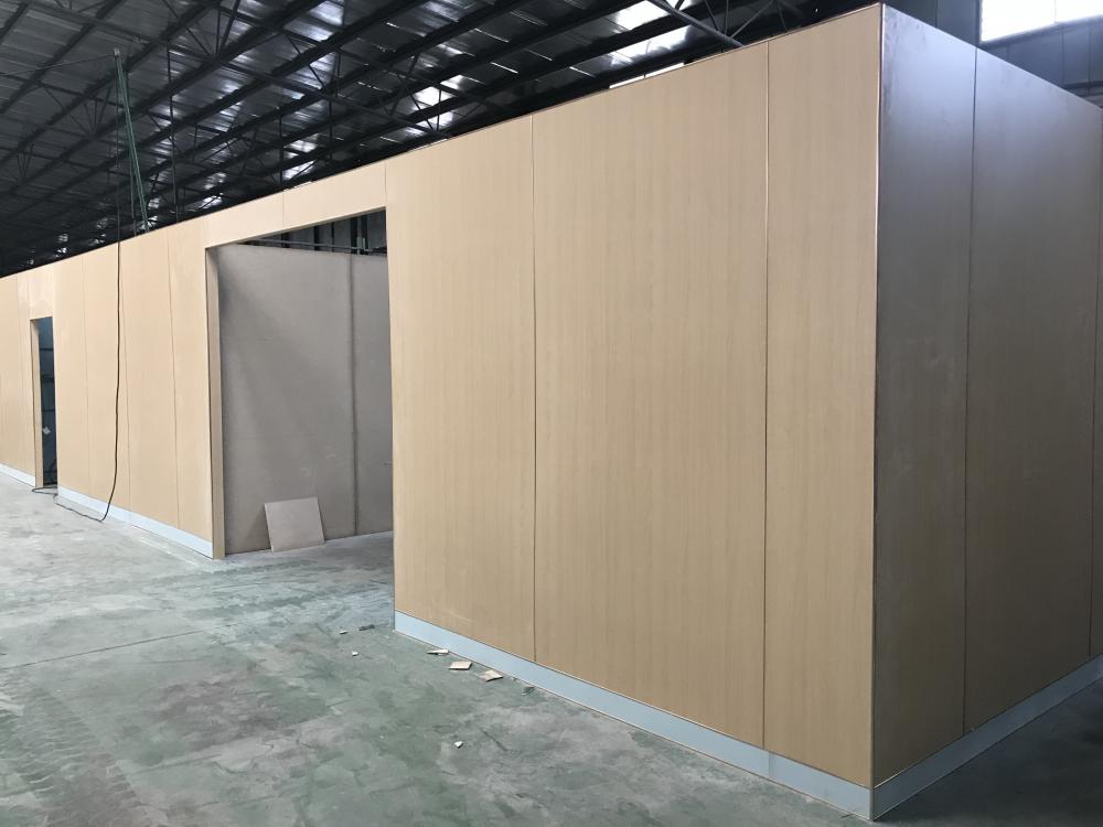 Prefab cabin wall cladding