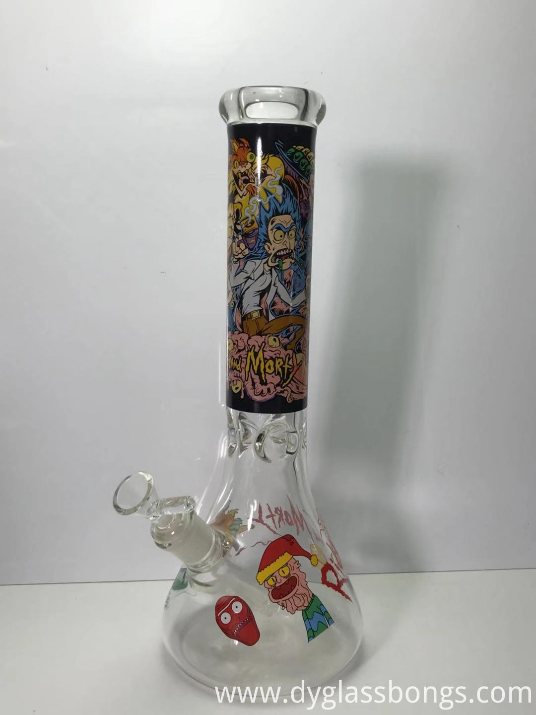 7MM thick Rick And Morty Glass Beaker Bong