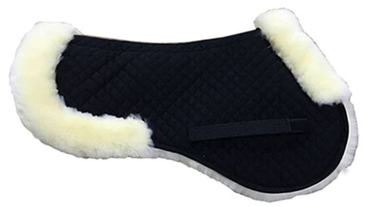 half sheepskin horse saddle pad